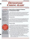 Orthopedic Coding Alert Magazine Subscription