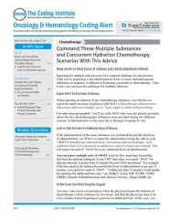 Oncology & Hematology  Coding Alert Magazine Subscription